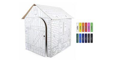 casas carton pintar