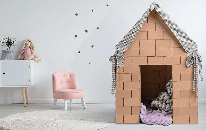 gigi bloks casa para niños de carton