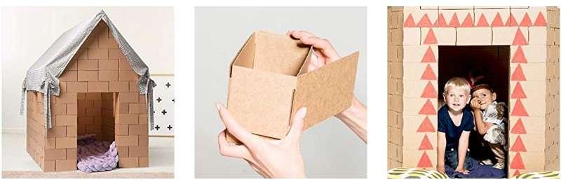gigi bloques de carton para construir casa